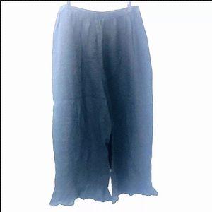 Flax Linen Black Ruffle Bedskirt Bloomers Size Med